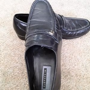 Florsheim Comfortech black slip on loafer size 12D